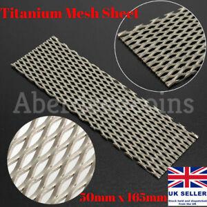 Titanium Mesh Electrode Sheet Plate for Electrolysis 50mm x 165mm