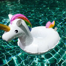 Swimming Inflatable Unicorn Floating Boat Drink Can Cup Holder Bath Beach Toy