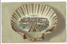 Sussex; On The West Pier, Brighton PPC Unposted, Shell Framed, 1910 PMK by Boots
