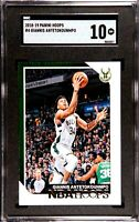 2018-19 Panini NBA Hoops Giannis Antetokounmpo #4 SGC 10 QTY AVAIL