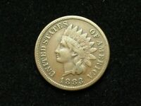NEW INVENTORY!!  VF-XF 1883 INDIAN HEAD CENT PENNY w/PARTIAL LIBERTY #190s