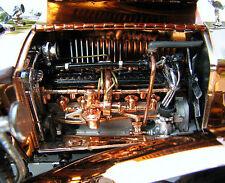 Rolls Royce Ghost Car w Engine Phantom Motor & Silver Spoke Wheels Vintage 1920s
