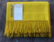Alicia Adams 100% Baby Alpaca Golden Yellow Herringbone – Ret. $500 - New