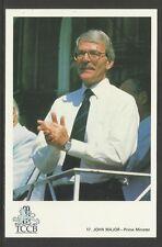 JOHN MAJOR (PRIME MINISTER) OFFICIAL TCCB CRICKET POSTCARD No.17