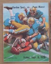 PENN MANOR vs GARDEN SPOT 1978 HIGH SCOOL PROGRAM