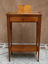 MAGNIFICENT 19C LOUIS XVI FRENCH FRUIT WOOD READING, SIDE TABLE LISEUSE, KEYS