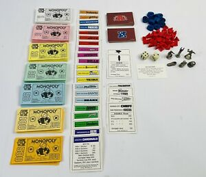 Vintage 1998 NFL Edition Monopoly Game Replacement Pieces