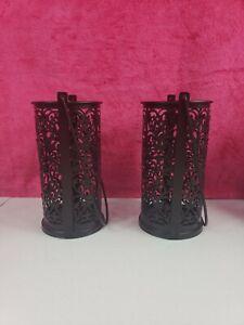 Decorative Metal Lantern Set - Sets of 2 Candle Holder
