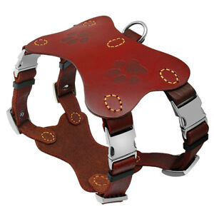 Leather Dog Training Harness Large Breed Heavy Duty Adjuatable for Rottweiler L