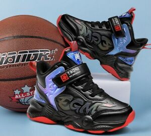 Kids Boys Girls Trainers Sports Sneakers Cushion School Shoes BasketBall  Boots