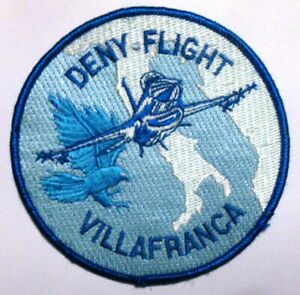 TOPPA PATCH AERONAUTICA MILITARE DENY-FLIGHT VILLAFRANCA (cm 10) in stoffa