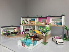 Playmobil 5574 / 5586 Modern Luxury Mansion & Extension Bundle Dolls House