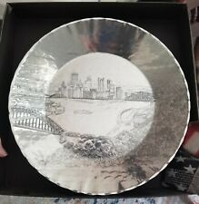Pittsburgh Skyline Bridges Wendell August Handmade Aluminum Plate 11 Inch New