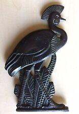 oiseau à crête objet déco vintage à fixer alliage coulé lourd 330gr 8x13cm,  .D7