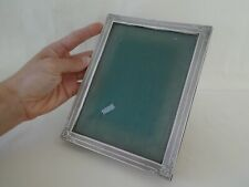 Continental Silver Easel Back Photo Frame