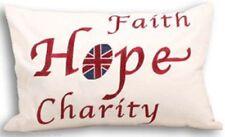 Paoletti Union Jack fede speranza carità Piuma riempito cuscino 35 CM x 50 cm