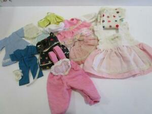 Vintage Mixed Lot Baby Girl Doll Clothing Various Sizes