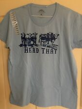 "Ladies Cows T-shirt ""herd That� Farm Country Blue Size Xl Cattle Steer"