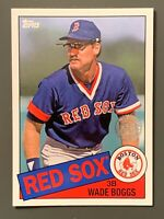 2020 Topps 1985 35th Anniversary #85-19 Wade Boggs Red Sox HOF