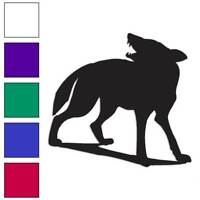 Wolf Dog Husky Decal Sticker Choose Color + Size #1037