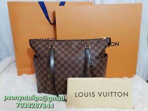 Louis Vuitton Totally MM Damier Ebene Tote Shoulder Bag (diaper bag style)