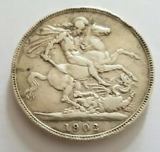 More details for 1902 king edward vii uk 925 silver crown coin