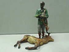 Bergmann Cold Painted Bronze Hunter and Stag Signed Namgreb 3834 Rare Antique