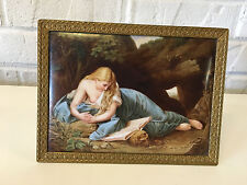 A Dresden Porcelain Plaque Of 'The Penitent Magdalene'
