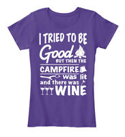 Camping And Wine Flash Sale! - I Tried To Be Good Women's Premium Tee T-Shirt