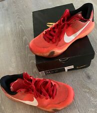 ed698860b81b Kobe X 10 Majors University Red Crimson Shoes Size 10.5 (Pre Owned - See  Cond