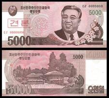 Korea Banknote Specimen 5000 Won 2008 (UNC) 全新 朝鲜 5000元样钞 号码全为0