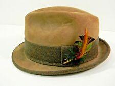Cavanagh Mens Fedora Hat Beaver Felt Vintage 6 7/8 Brown Small