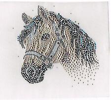 Rhinestone iron on transfer DIY hot fix applique golden horse Craft decoration