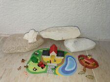 Playmobil Micro Welt Sammlung aus  4332 Arche Noah Schiff 4334 Bauernhof Tiere