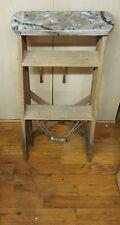 Vintage 2 Step WOOD LADDER kitchen stool display shelf primitive country seat