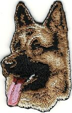 "1 1/4"" x 2 1/8"" German Shepherd Dog Breed Portrait Embroidery Patch"