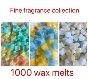 1000 scented Wax Melts Job Lot. 10 Fine Fragrance Home & Candle Scents