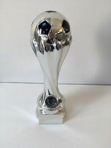 """Silver Football Ball Tower Trophy award """"World Cup"""" - 310mm - FREE ENGRAVING"""