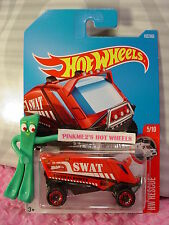 AERO POD #162✰Red; SWAT tactical rescue✰HW Rescue✰2017 i Hot Wheels case G/H