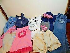 Girls Clothing Lot Barbie Hoodie Carters Denim Blouse Blue Jeans Stretch Pants 6