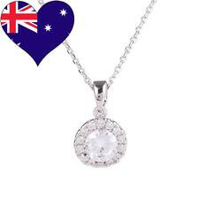 Solest WG Rhodium Plated Cubic Zirconia Necklace/Pendant Bridal Gift Jewellery