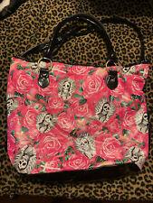 IRON FIST Beautiful Sinner Tote Bag Handbag Skull Flower Pink Ladies Womens