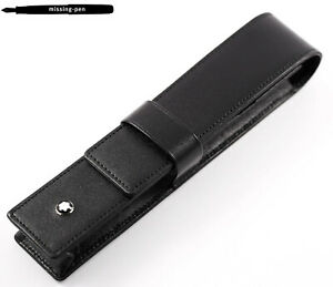 NEW Montblanc Leather Case / Etui Siena for 1 Pen in Black No.14309