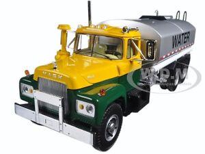 MACK R WATER TANK TRUCK YELLOW/GREEN/SILVER 1/34 DIECAST FIRST GEAR 10-4069