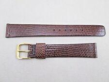 Speidel 16mm men's brown genuine lizard watch band strap NOS made in Canada