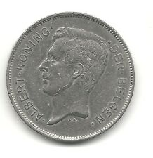 Belgium 20 francs 1931 KM 102 VF+ Dutch Coppernickel coin circulated