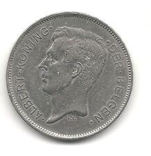 Belgium 20 francs 1931 KM 102 VF+ Dutch Coppernickel coin circulated