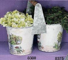 Runde Deko-Blumenübertöpfe aus Metall
