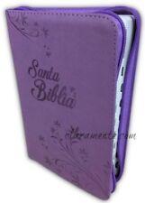 Biblia Letra Grande Manual con Cierre, RVR 1960 imitacion piel morado con indice