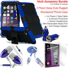 Heavy Duty Tough Shockproof Phone Case+Accessory Pack for MOTOROLA MOTO E4 PLUS